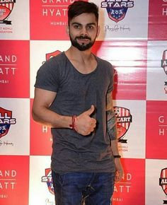 Virat at the after match party. Charity football