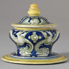 salt cellar and cover from an accoutrement set, Italy, about 1525