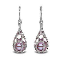YOKO London white gold and diamond earrings