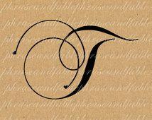Lettre T Coeurs 290 Téléchargement numérique Alphabet initiale Nom Glyphe caractère de police Typographie