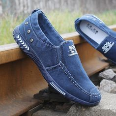 Promo Offer Fashion Denim Men Canvas Shoes male Summer Mens sneakers Slip On Casual Breathable Shoes Loafers Chaussure Homme Black SIZE 45 Denim Shoes Mens, Mens Canvas Shoes, Mens Fashion Shoes, Sneakers Fashion, Denim Men, Fashion Fashion, Moda Sneakers, Sneakers Mode, Shoes Sneakers