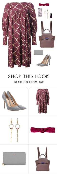 """""""Vintage Grid Print Dress"""" by sol4ange ❤ liked on Polyvore featuring Gianvito Rossi, Chanel, Biba, Loshy, Prada, DKNY, ZAC Zac Posen, Casetify and vintage"""
