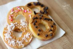 apple doughnuts - fun with food ideas