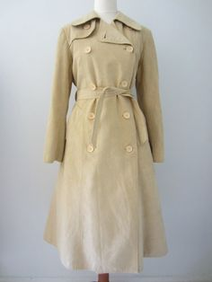 Saks Fifth Avenue Trench Coat in Cream Tan, M // Vintage Double Breasted Overcoat Sash Belts, Almost Always, Saks Fifth Avenue, Double Breasted, Trench, Just In Case, Im Not Perfect, Coat, Office Chic