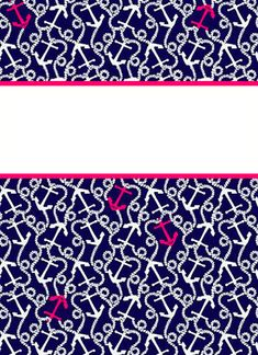 From The Bottom: Preppy Binder Covers Binder cover templates