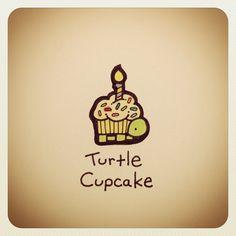 Turtle Cupcake #turtleadayjuly - @Stephanie Close Macias James Couture Portraits Wayne- #webstagram