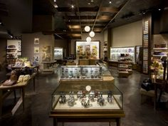 The residentially inspired environment at Fossil's updated Universal CityWalk store is designed to provide a comfortable and visually stimulating backdrop to the retailer's vintage-inspired products. Photography: Mark Steele, Columbus, OhioView Image Details