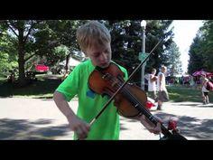 Violinist Ethan at Spokane Hoopfest