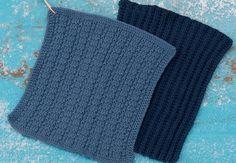 strikkede karklude og hæklede klude
