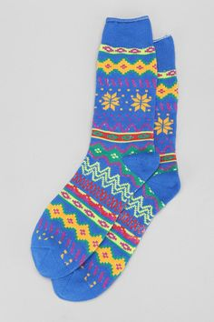 Who says socks aren't a rad gift? These faire isle camp socks feel as good as they look. #urbanoutfitters
