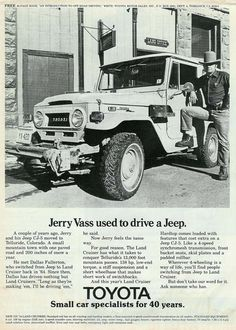 Jerry Vass used to drive a jeep.