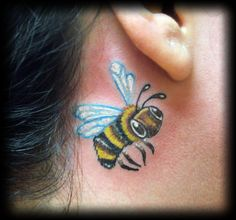 Bumble bee tattoos (looking for a cute one as part of my next tat)