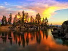 Sunset at Sand Harbor, Lake Tahoe by BjornKleemann #photo pic.twitter.com/5x7nAmaWdf