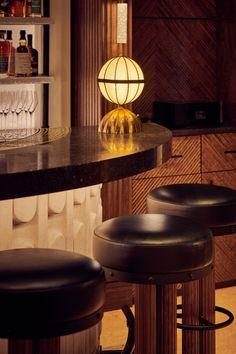 The Berkeley Bar & Terrace, commercial Projects, Ben Whistler custom furniture made to order Bar Furniture, Custom Furniture, Furniture Making, Diner Restaurant, Restaurant Design, Bar Lighting, Lighting Design, Bar Interior Design, Upholstered Stool