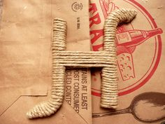 twined wrapped letters