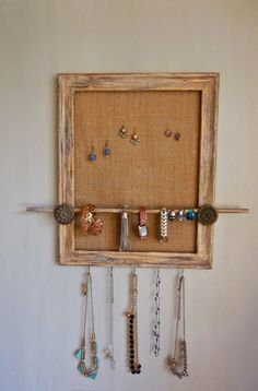 Upcycled Repurposed Frame JewelrOrganizer-Wood-Paint by PippinPost