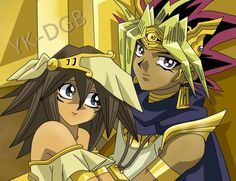 ATEM X MANA by YK-DGB on deviantART 30 day anime challange, day 8; what is your favourite couple: Atem and Mana. While I know this not canon, I find them so adorable together. I can ramble forever about why I love vaseshipping so much. A runner up is Soul and Maka.