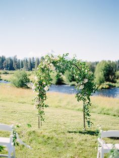 Wild rose arch by Madison Hartley
