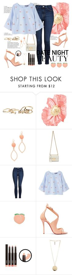 """you've got a peach of my heart"" by wondrousbeing ❤ liked on Polyvore featuring GUESS, Shashi, Gucci, Topshop, Violeta by Mango, PINTRILL, Christian Louboutin and Givenchy"