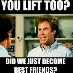 You lift too? Did we just become best friends? Gym memes aside, who uses the bes. - You lift too? Did we just become best friends? Gym memes aside, who uses the best quality supplemen - Michelle Lewin, Yoga, Crossfit, Bodybuilding Memes, Bodybuilding Training, Under Armour, Gym Humour, Fitness Memes, Fitness Diet