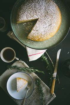 Rosemary Semolina Olive Oil Lemon Cake (Souvlaki For The Soul)
