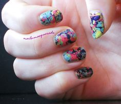 splatter nail polish with link to step-by-step explanation of the technique