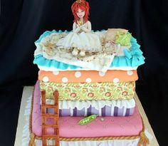 """Chyba najbardziej pomysłowy tort jaki udało mi się znaleźć, dla fanki """"Księżniczki na ziarnku grochu"""""""
