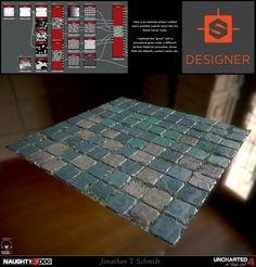 """Here is a collection of Materials that were made by Jonathan T. Schmidt, for use in Uncharted All of these were procedurally generated using Substance Designer. Jonathan created a """"Stone Carver"""" node that was setup to receive custom inputs, Cinema 4d Tutorial, 3d Tutorial, Substance Designer Tutorial, Game Textures, Blender Tutorial, Simple Line Drawings, Modeling Tips, 3d Max, Environmental Art"""