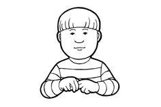 Istua (Kuva: Elina Vanninen) School Signs, Sign Language, Fictional Characters, Art, Sunnuntai, Cochlear Implants, Autism, Art Background, Kunst