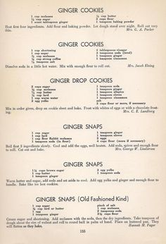 Vintage Cookies Recipes From 1940 various ginger cookies Brownie Cookies, No Bake Cookies, Cookie Desserts, Cookies Et Biscuits, Cake Cookies, Cookie Recipes, Dessert Recipes, Cupcakes, Crispy Cookies