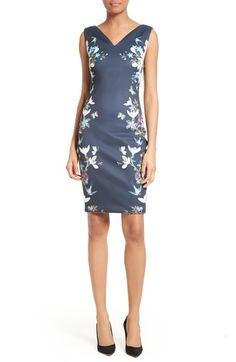 Ted Baker London Katiey Placed Print Sheath Dress available at #Nordstrom