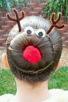 Cute Rudolph hair style for girls