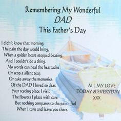 Remembering my wonderful dad this fathers day fathers day happy fathers day fathers day quotes happy fathers day quotes fathers day images fathers day image fathers day image quotes Dad Poems, Fathers Day Messages, Fathers Day Wishes, Happy Father Day Quotes, Happy Fathers Day, Loss Of Father Poem, Funny Poems, Missing Dad In Heaven, Dad In Heaven Quotes
