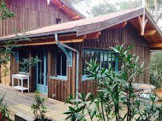 La cabane du Mimbeau Wooden Cabins, Wooden House, Surf House, Beach House, Shepherds Hut, Surf Shack, Spanish House, Outdoor Chairs, Outdoor Decor