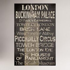 One of my favorite discoveries at WorldMarket.com: London Words