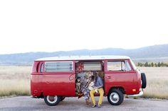 A Red VW Bus   COUTUREcolorado WEDDING: colorado wedding blog + resource guide