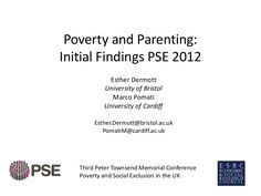 Initial findings from Poverty and Social Exclusion UK research on parenting and…