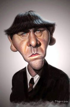 Moe (The Three Stooges) - illustration of Walter Fornero - I personally love Moe! he's my fave!
