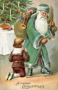 .Green clad Santa.