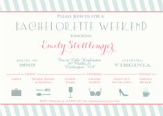 Bachelorette Weekend Itinerary by Oohlalovely on Etsy, $22.00