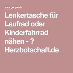 Lenkertasche für Laufrad oder Kinderfahrrad nähen - ♥ Herzbotschaft.de