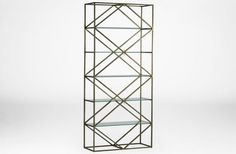 Keaton Etagere Bookcase Shelves Gabby SCH-290250 W 40 D 16 H 90 Gold #OpenShelving #OpenBack $1072.50 #GoldFinish #3Foot