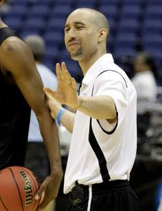 Shaka Smart (VCU coach) telling his player to STFU because Shaka knows what he's talking about and his player is stupid.