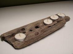 Driftwood candle holder: Seventwenty82 as found on a polar bear's tale blog site