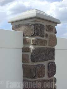 Faux Stone Fence Post