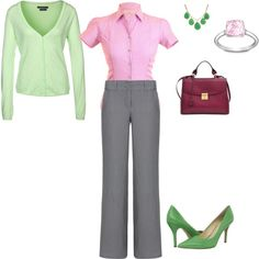 """Light Summer - pink, burgundy, pale green"" by adriana-cizikova on Polyvore,"