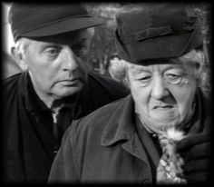 "Stringer Davis as Mr. Stringer and Margaret Rutherford as Miss Marple in ""Murder She Said"" Based on an Agatha Christie novel, the producers added the character of Mr. Stringer, a librarian, who helps to solve the mystery with Miss Marple. Agatha Christie's Poirot, Hercule Poirot, Mrs Marple, Margaret Rutherford, Small Movie, Sound Film, Julie Christie, Famous Novels, Best Mysteries"