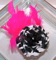 Hair Accessory Bright Hot Pink and Zebra by Bows and Diva Things