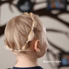 Bubble Crown - Easy Hairstyle for a toddler or little girl