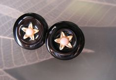 black button  onyx by sonhee on Etsy, $38.00
